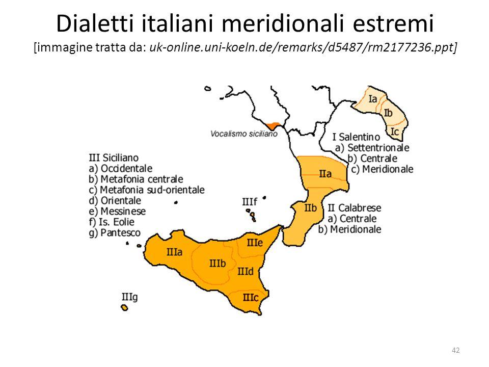 Dialetti italiani meridionali estremi [immagine tratta da: uk-online